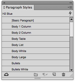 Paragraph Styles