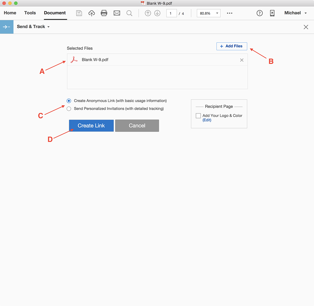 how to use adobe send and track