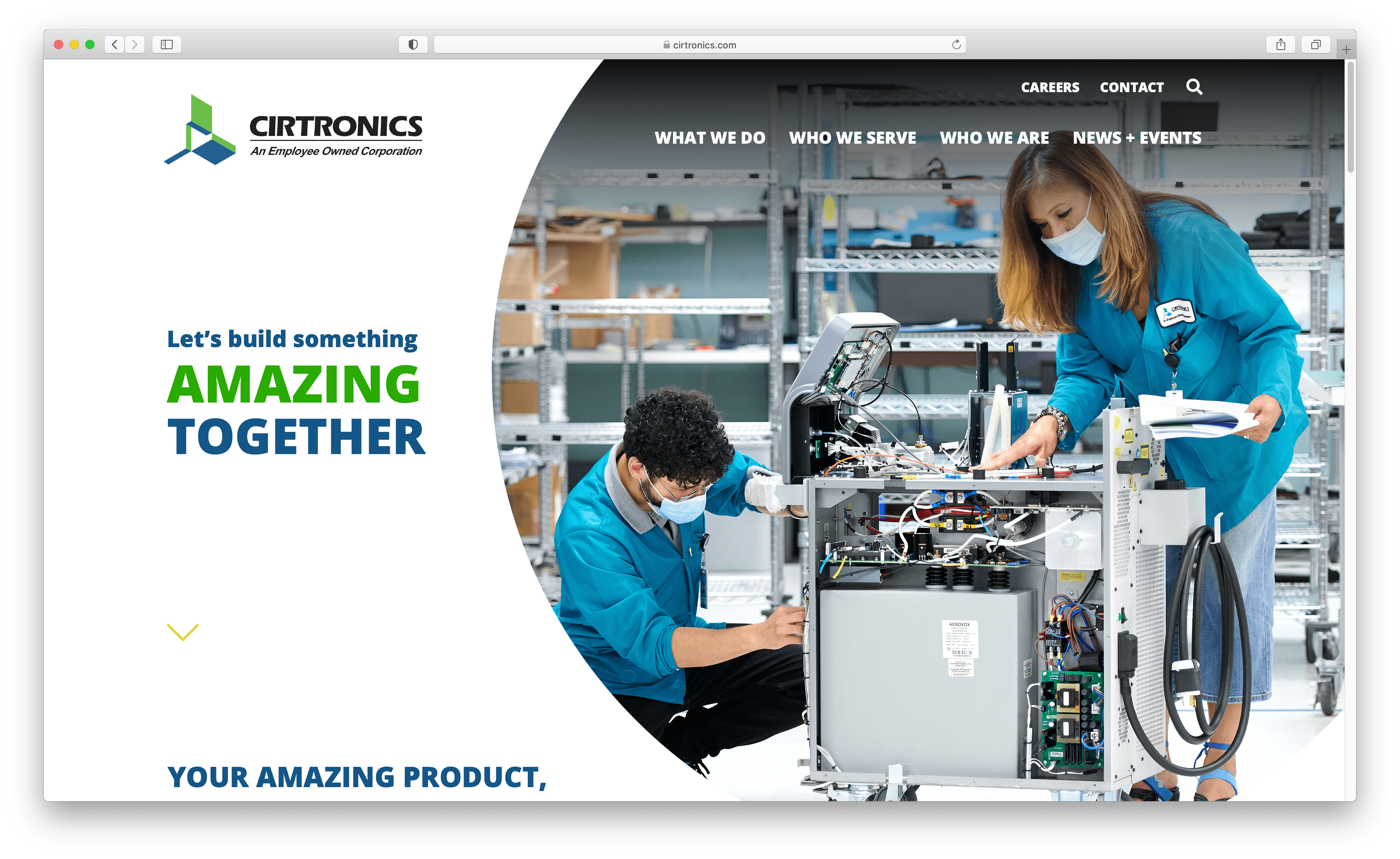 Cirtronics Homepage is a good example of asymmetrical design.