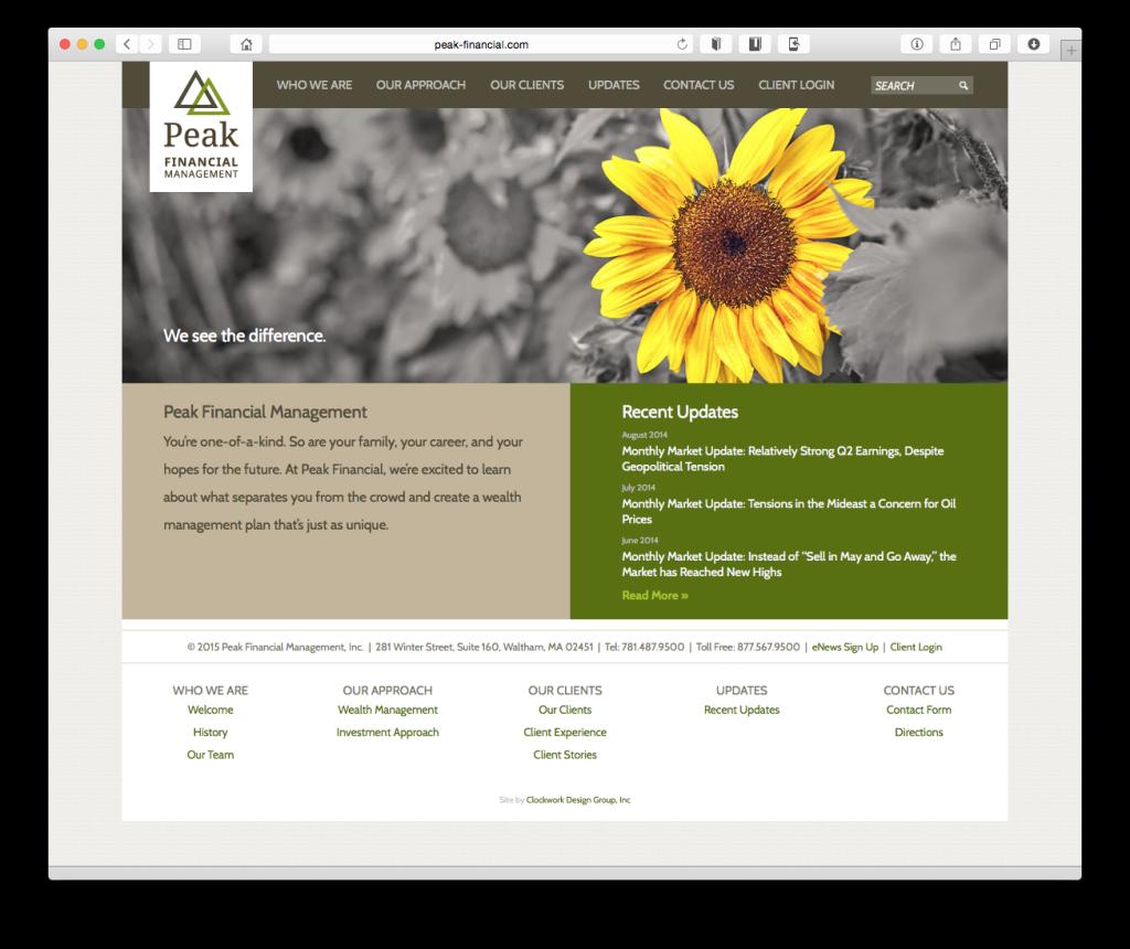 Peak Financial Homepage