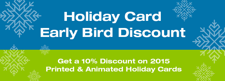 Holiday Card Early Bird Discount