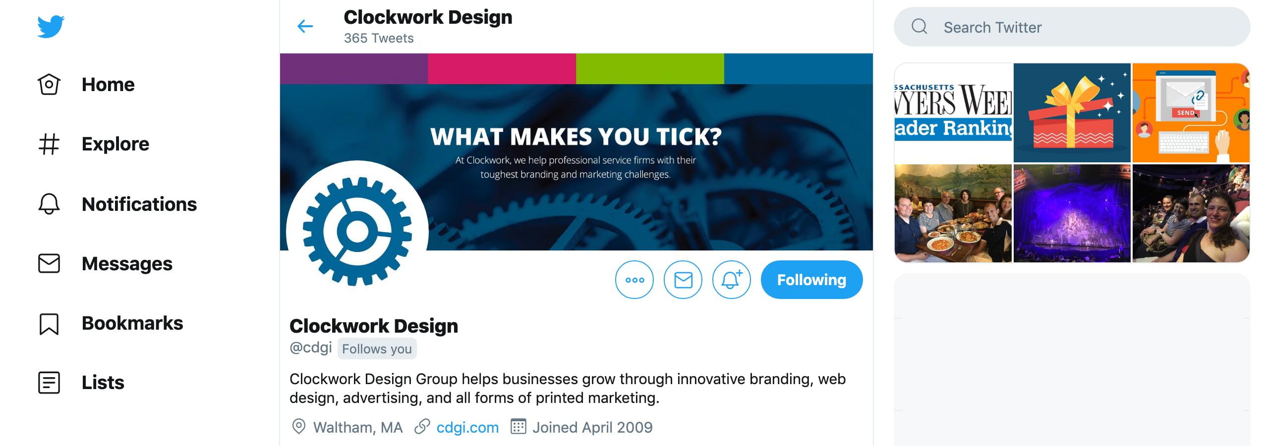 Company Cover Photos For Social Media Clockwork Design Group Inc