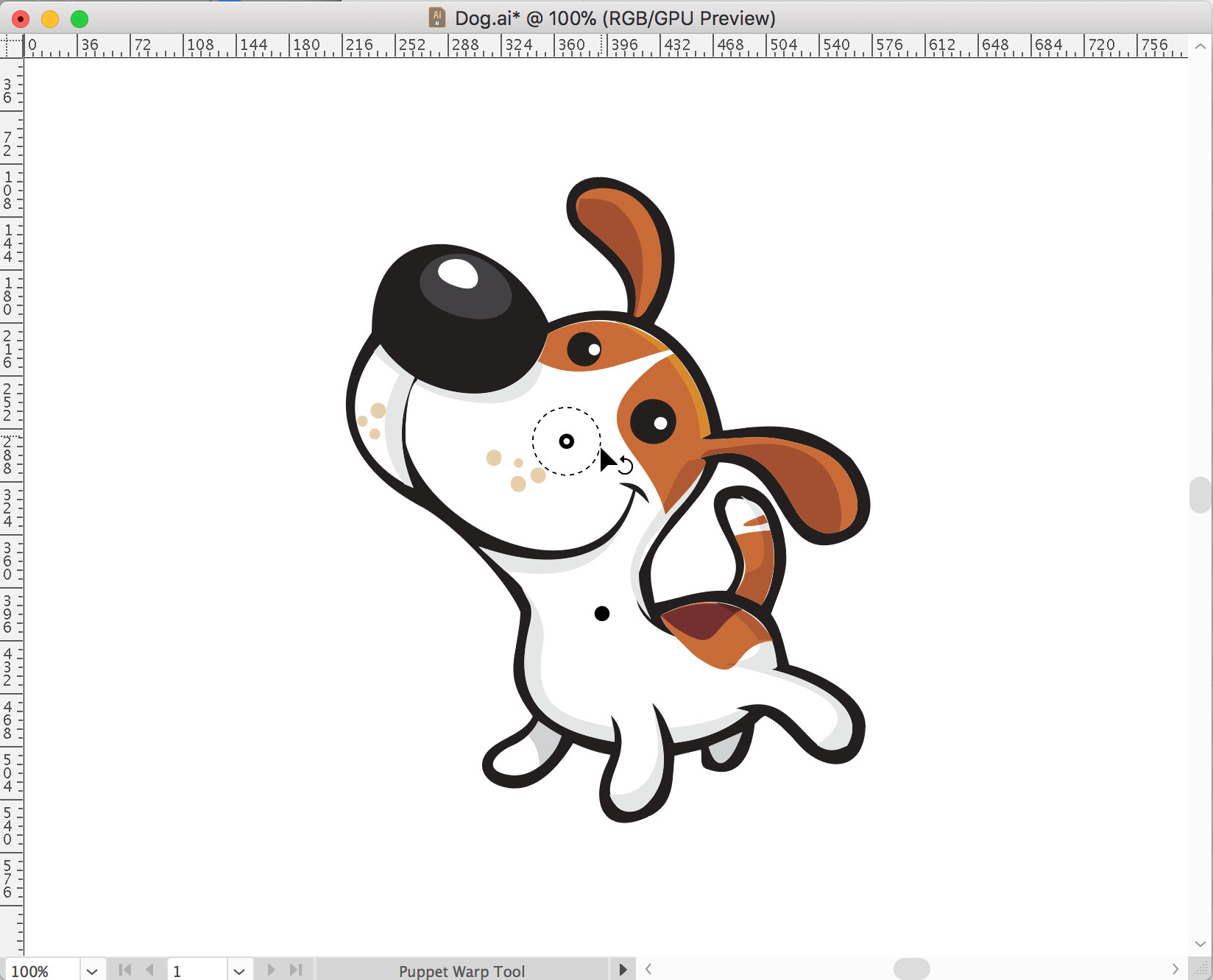 how to use puppet warp illustrator