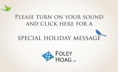 Foley Hoag Ecard 2013