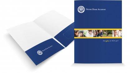 Notre Dame Pocket Folder