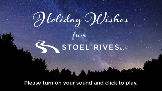 Stoel Rives Holiday Ecard 2016