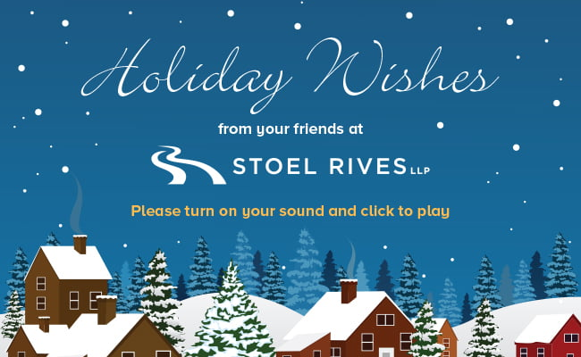 Stoel Rives Holiday Ecard 2017