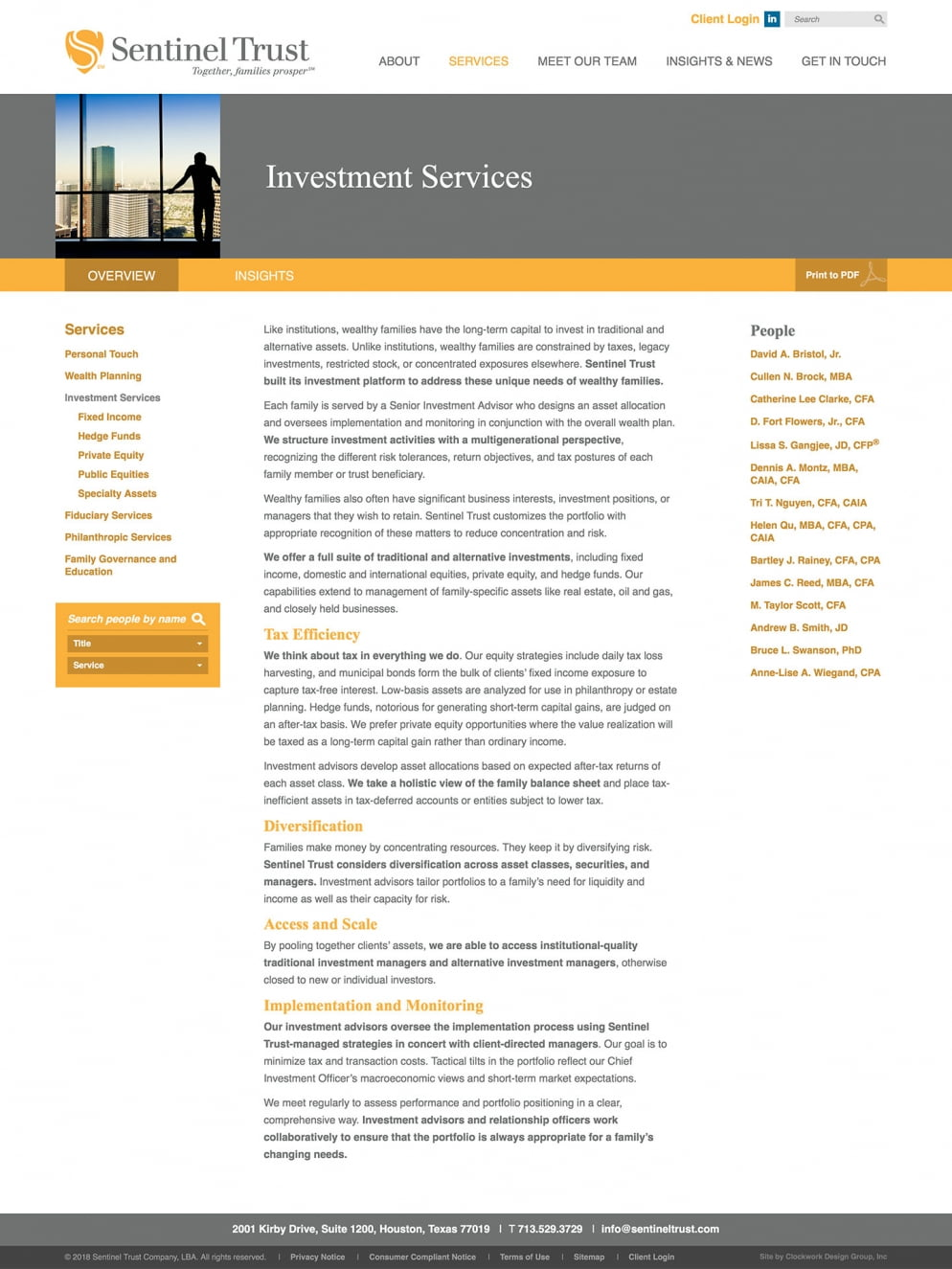 Sentinel Trust Service