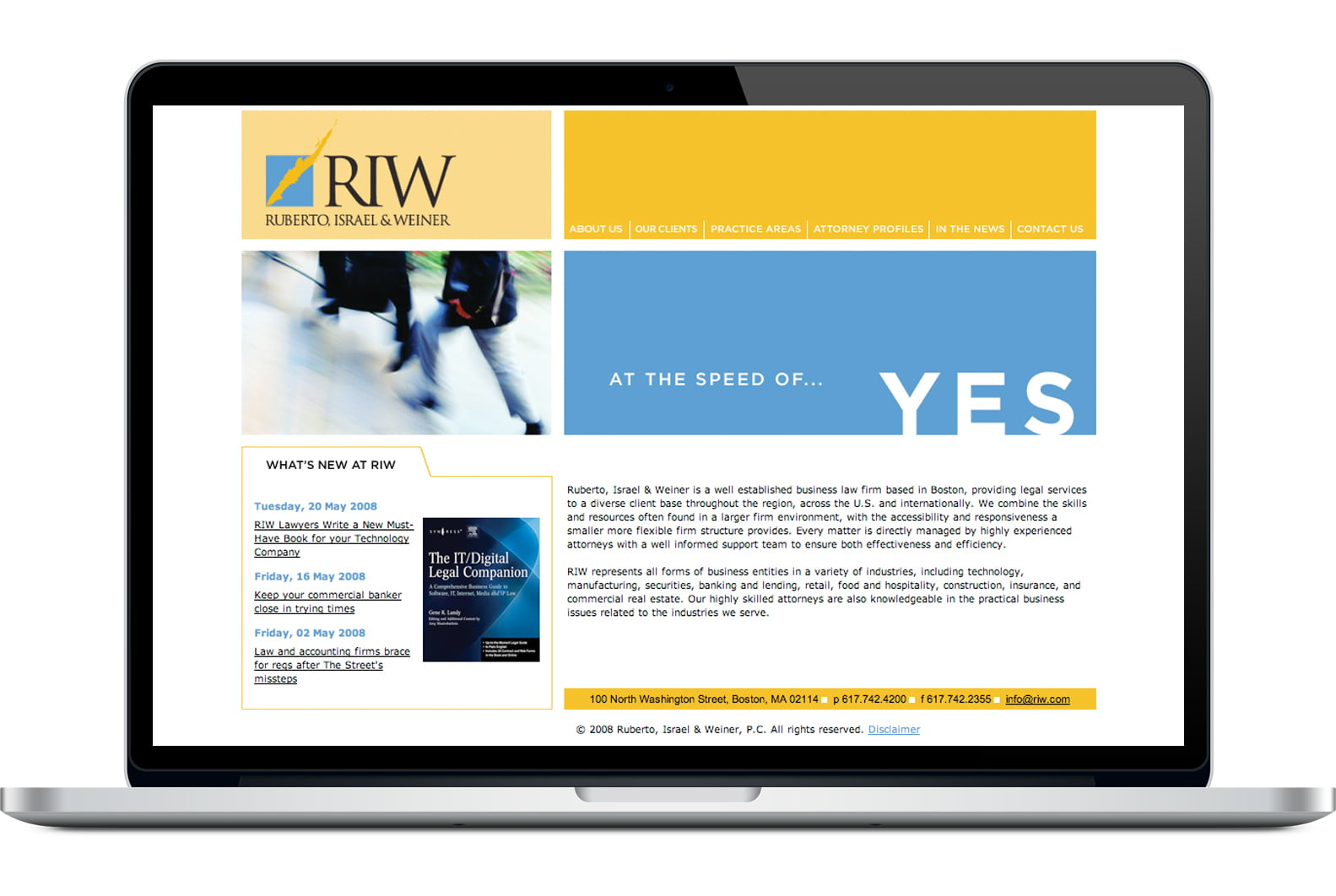 Riw Website Before
