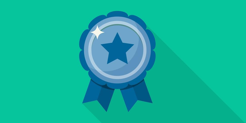 Award Badge Graphic Blue