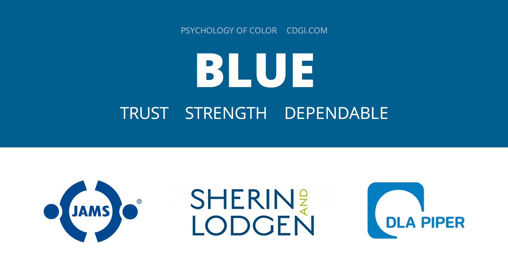 Blue: Trust, Strength, Dependable