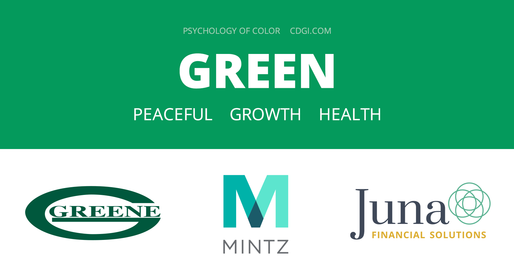 Green: Peaceful, Growth, Health