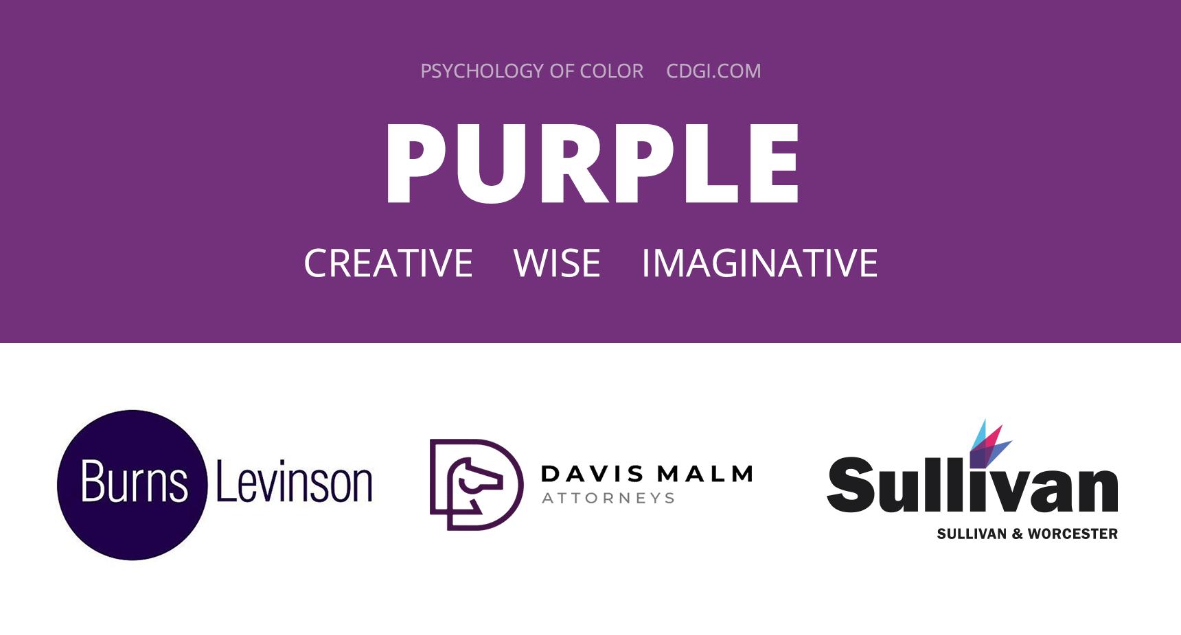 Purple: Creative, Wise, Imaginative