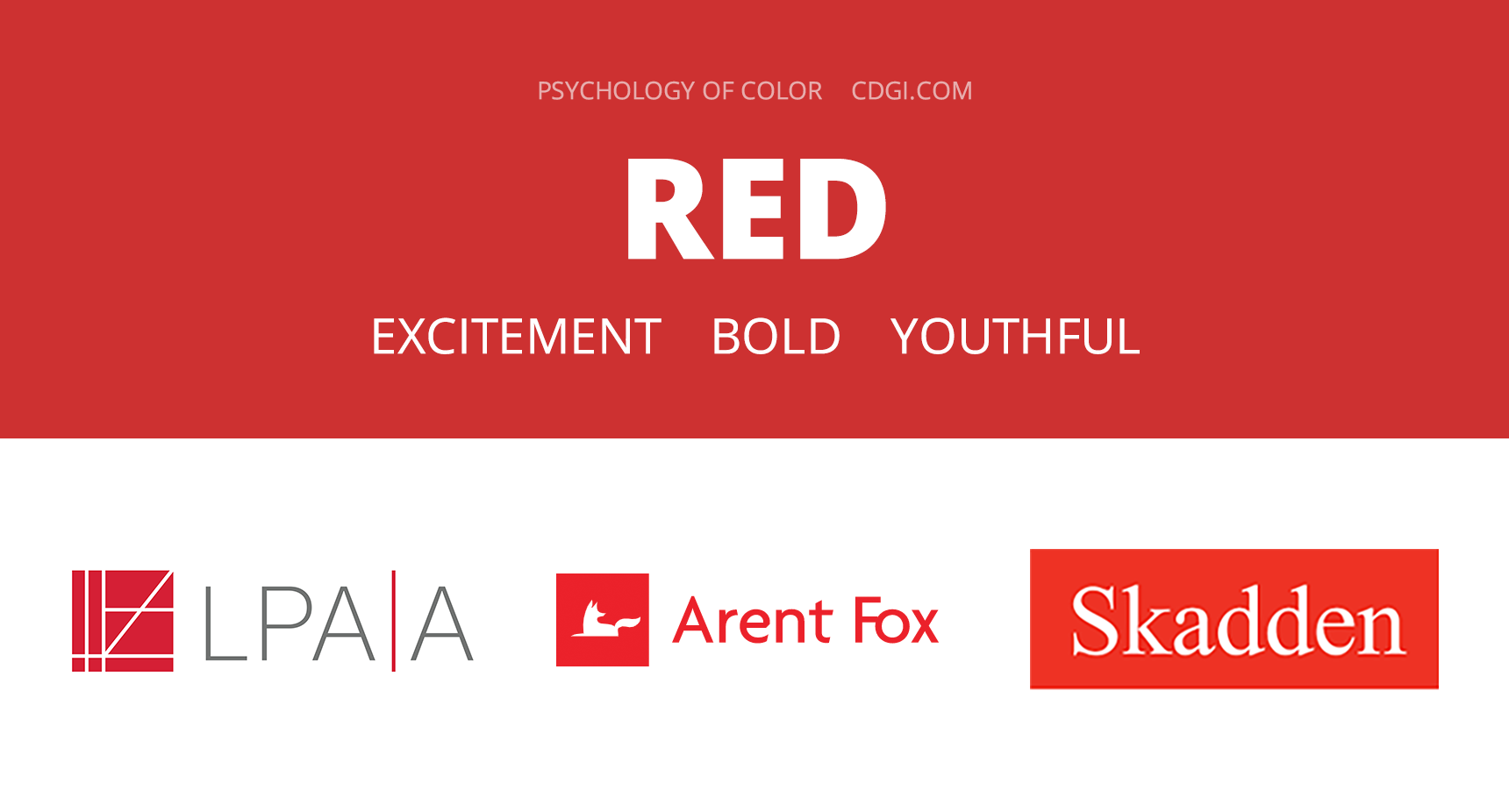 Red: Excitement, Bold, Youthful