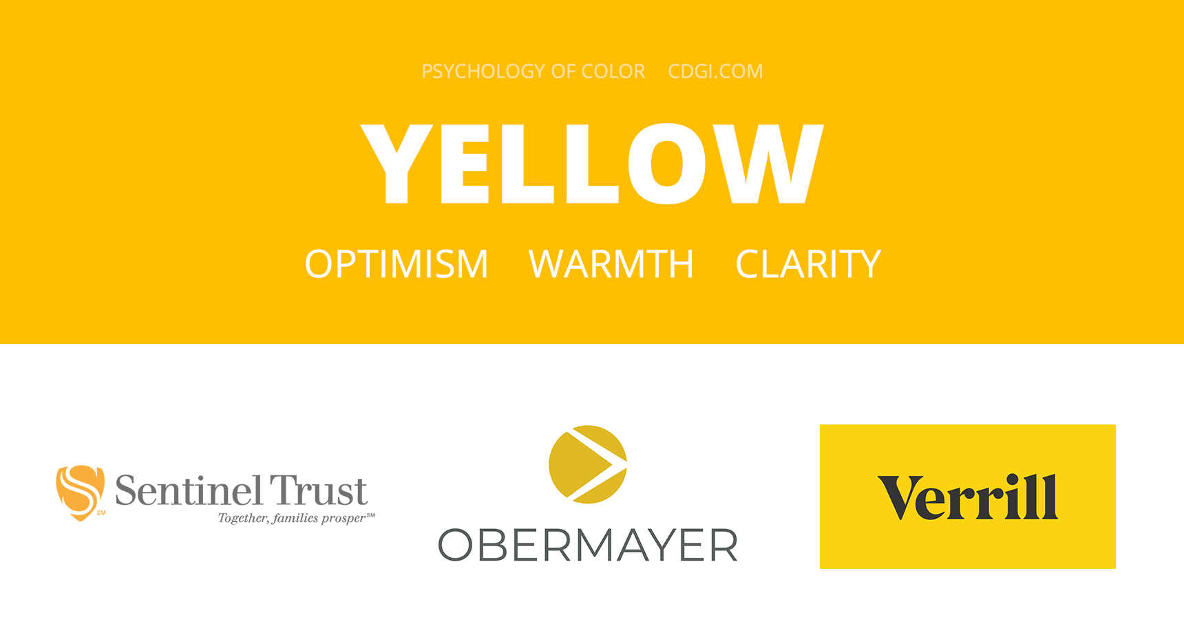 Yellow: Optimism, Warmth, Clarity