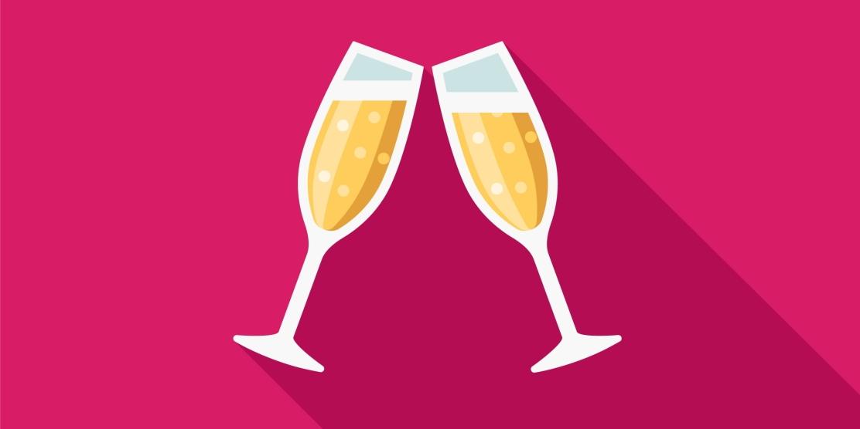 Congrats Award Champagne