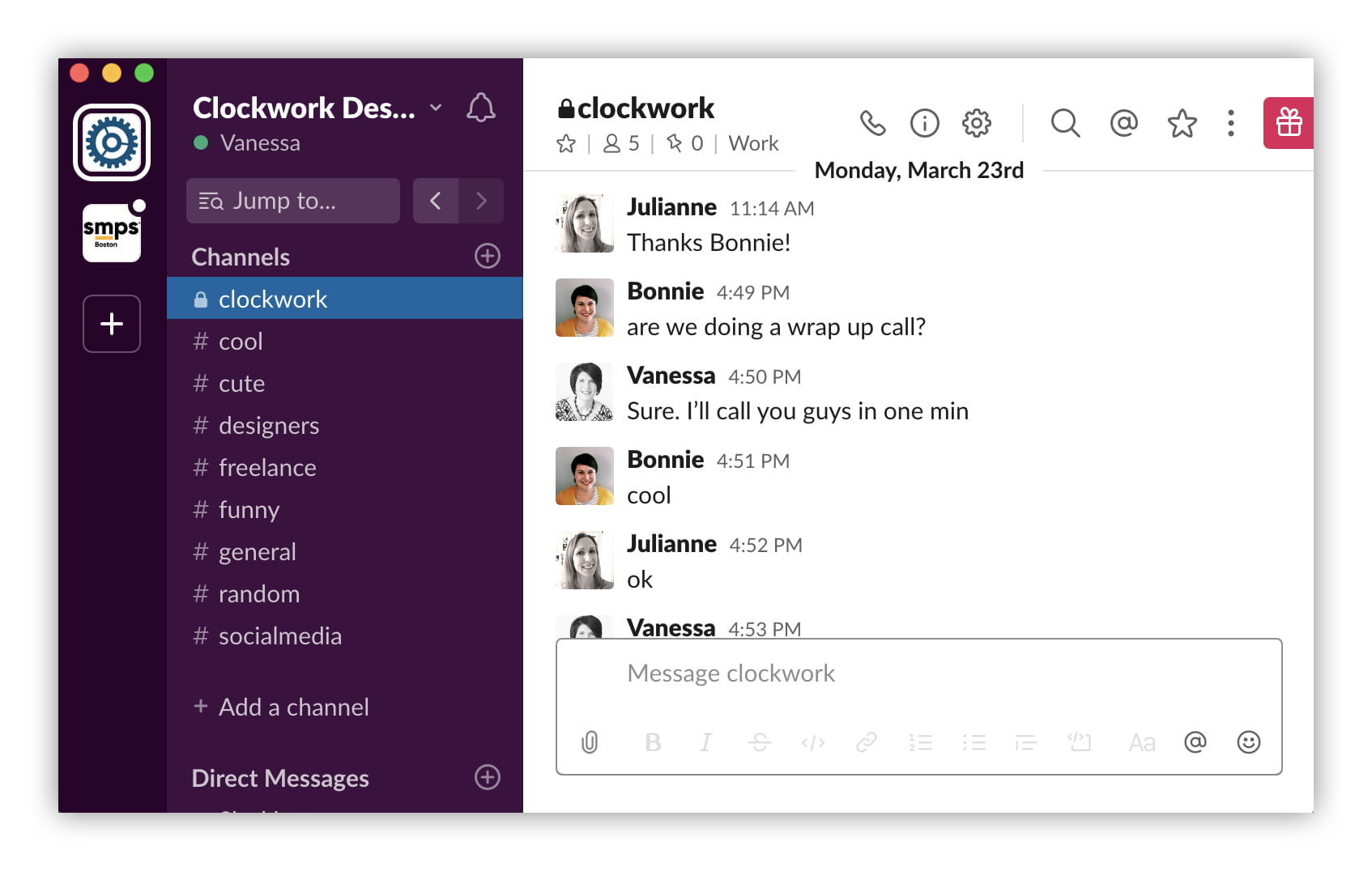 Slack Screen Cdgi