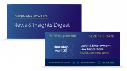 Sherman Howard Email Header Digital Invite